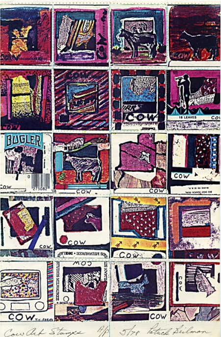Artist Stamps, Copy machine art, Network, Mail Art, Cow Town Art, Correspondence art, ephemeral, pop images, perforations Stamp Artists, XOOX postage, Xerox